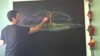 Waldorf Art - Norse Mythology chalk drawing tutorial preview