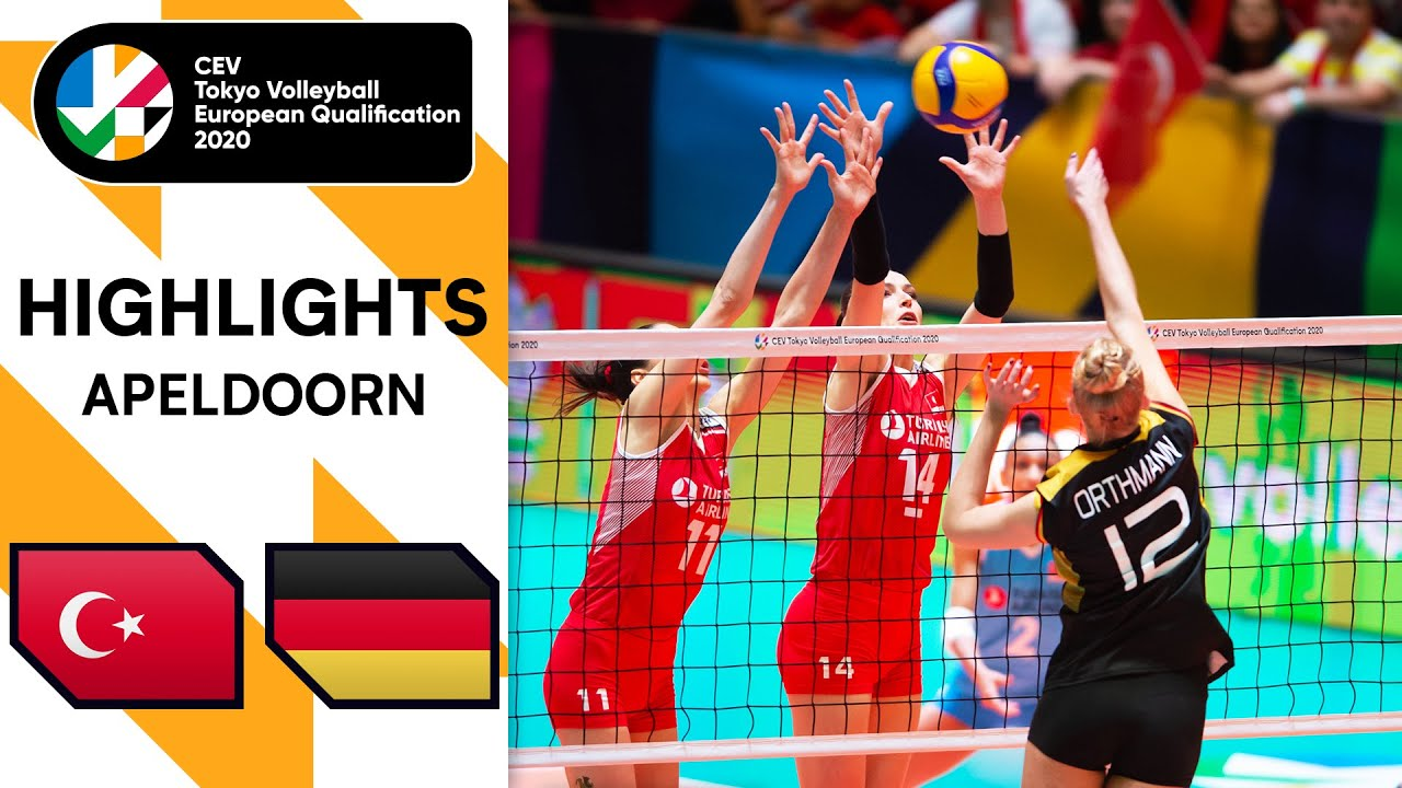 Turkey Vs Germany Highlights Cev Women S Tokyo Volleyball Qualification 2020 Youtube