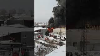 Пожар на улице Трикотажной