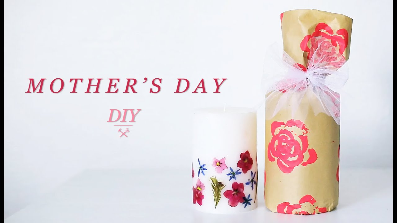 DIY MOTHER'S DAY GIFT | CANDLE & WRAPPING - YouTube