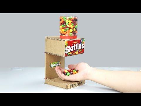 Wow! Amazing DIY Skittles Candy Magic Dispenser