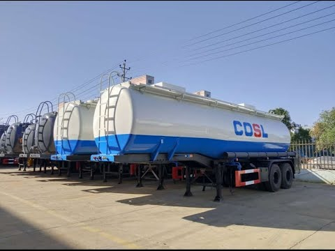 Steel Semitrailer Lined Plastic LLDPE For Acid Chemical Transport With Pump