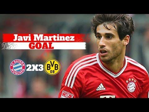 Bayern Munich vs Borussia Dortmund 2-3 | Goal Javi Martinez | 26/04/2017