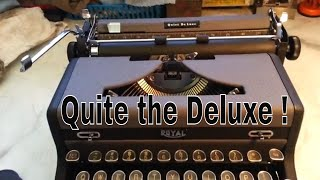 Royal Quiet De Luxe Typewriter Cleaned & Serviced Ribbon Installed Demo