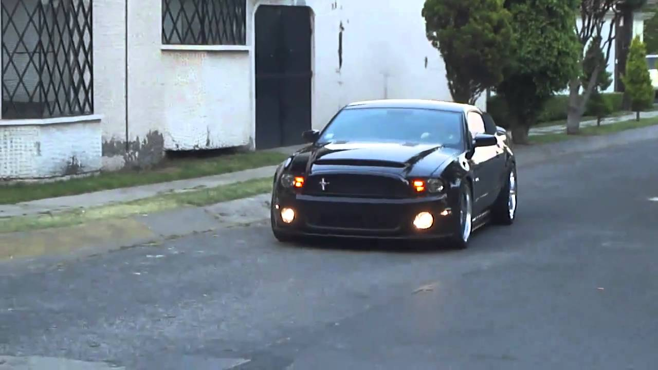 2011 Mustang Gt To Gt500 Black Mamba Conversion Mp4 Youtube
