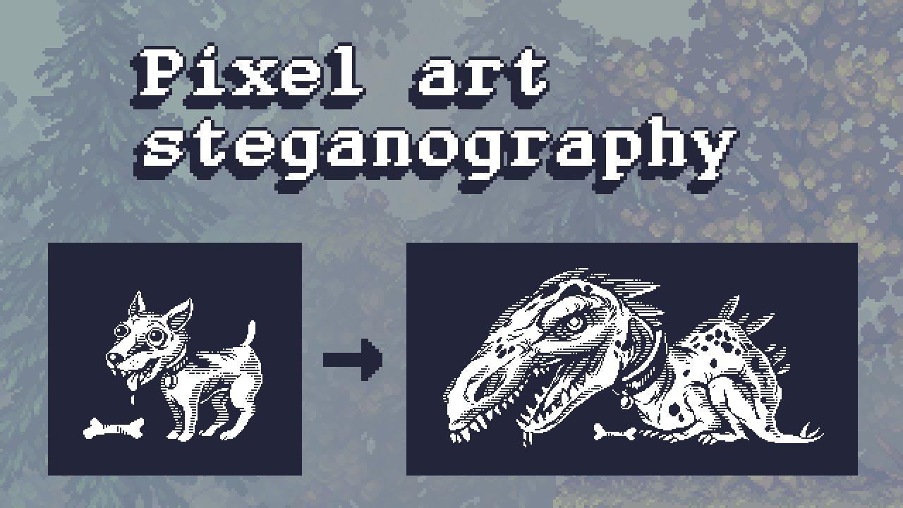 1 bit pixel art