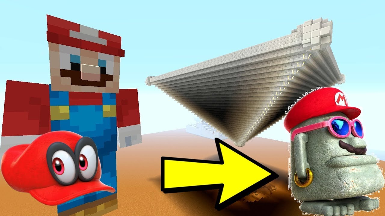 Minecraft Switch - Super Mario Series - MARIO FINDS INVERTED PYRAMID! [ODYSSEY] [228]