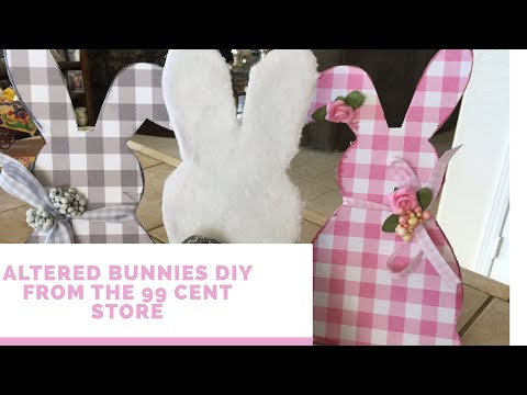 Adorable Easter Makeover  DIY Made From A 99 Cent Store Bunny Plaque