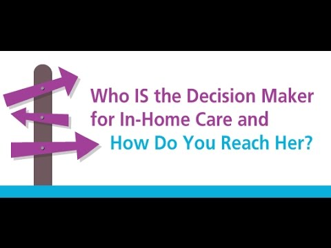 Who IS the Decision Maker for In Home Care and How Do You Reach Her