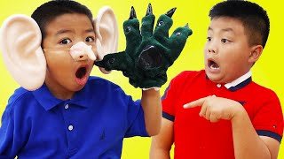 Alex and Eric Pretend Play Turning Into a Monster for Lying | Good vs Bad Kids Behavior