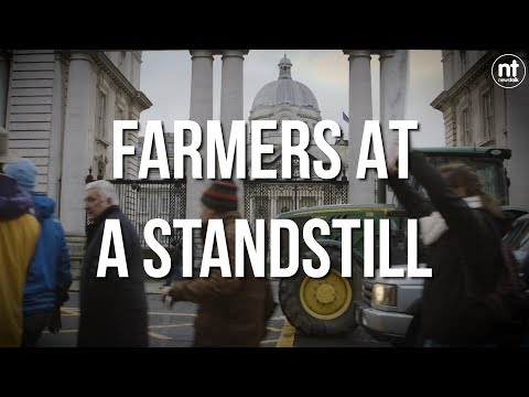 Farmers Protest With Tractors In Dublin