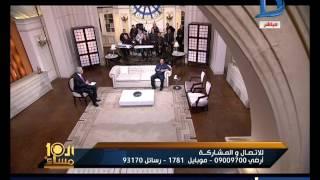 العاشرة مساء المطرب ايهاب توفيق يبعث لأحمد شيبه رسالة على الهواء