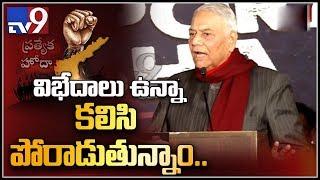Yashwant Sinha speech at Chandrababu's Dharma Porata Deeksha in Delhi - TV9