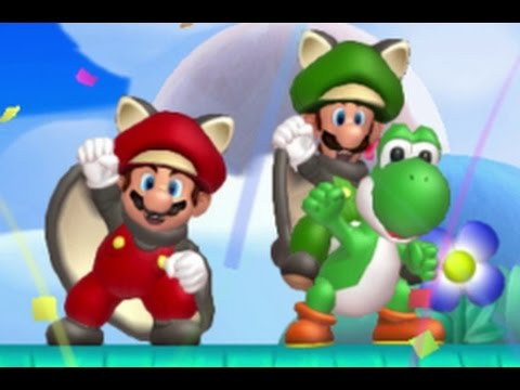 New Super Mario Bros. U Co-op Walkthrough - World 7 - Meringue Clouds (All Star Coins)