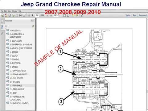 hqdefault jeep grand cherokee repair manual 2007 2008 2009 2010 youtube 2009 jeep grand cherokee wiring diagram at soozxer.org
