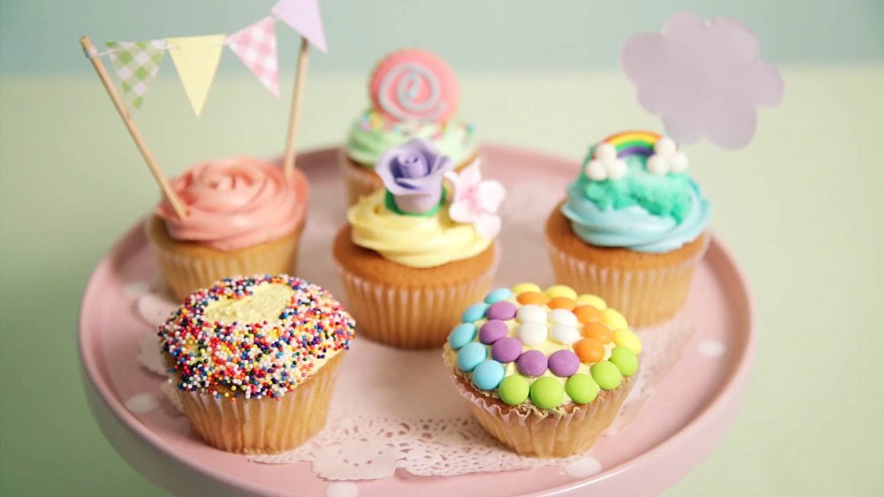 6 Fun Ideas To Decorate Store Bought Cupcake   YouTube