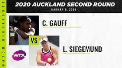 Coco Gauff vs. Laura Siegemund | 2020 Auckland Second Round | WTA Highlights