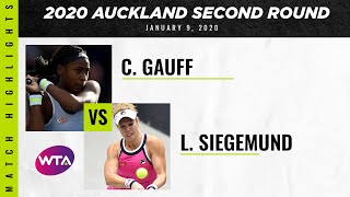 Coco Gauff vs. Laura Siegemund | 2020 Auckland Second Round | WTA Highlights