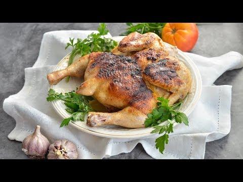 РЕСТОРАННЫЙ УРОВЕНЬ! 💖 Цыпленок табака на сковороде под прессом 😍 ВКУСНОЕ БЛЮДО!