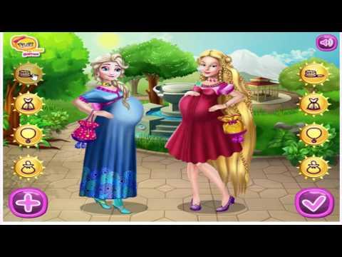 เกมส์แต่งตัว บาร์บี้กับราพันเซลตั้งท้อง กินอาหาร Barbie and Rapunzel Pregnant BFFs♡seamay♡