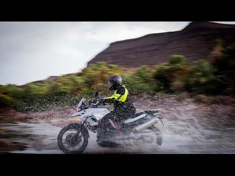 A real motorcycle adventure tour in Morocco - river crossing, desert, mountains and oasis