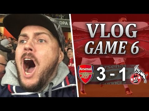 ARSENAL 3 V 1 FC COLOGNE - THE EUROPA LEAGUE IS OURS LOL - MATCHDAY VLOG