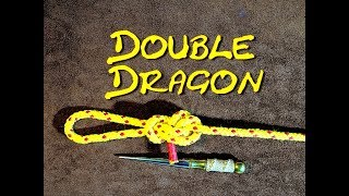 Double Dragon Loop - How to Tie the Double Dragon Loop - Very Secure End of Line Loop Knot