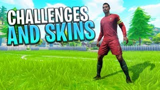 'NEW' UPDATE WEEK 5 CHALLENGES - NEW WORLD CUP SKINS? - Fortnite: Bataille Royale