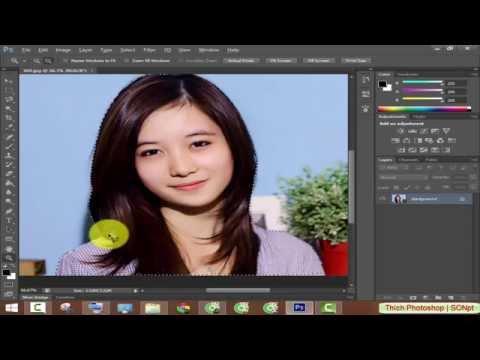 Cắt ghép ảnh sử dụng công cụ Lasso Tool trong Photoshop CS6
