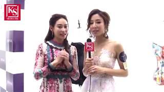 楊怡, 楊卓娜成都出席品牌開幕(訪問片段)