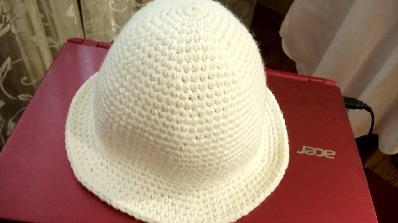 Простая шляпка крючком схема фото 50