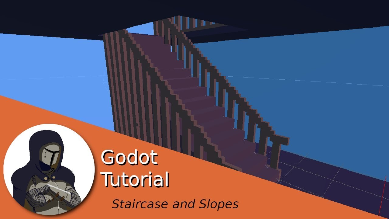 How to deal with stairs and slopes in a horor game (Godot Tutorial)