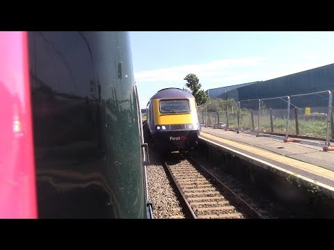 Severn Tunnel WINDOW HANG GWR green HST (Newport to Bristol Parkway with MAP)