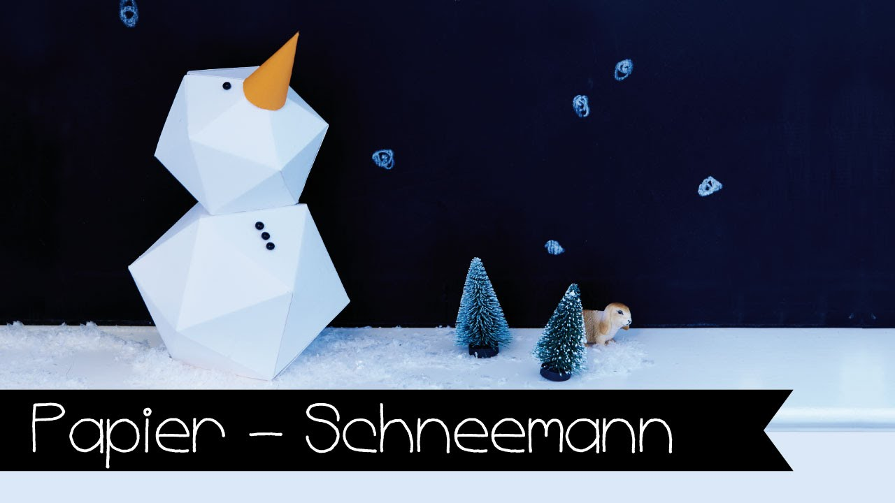 diy schneemann aus papier selber machen papier youtube. Black Bedroom Furniture Sets. Home Design Ideas