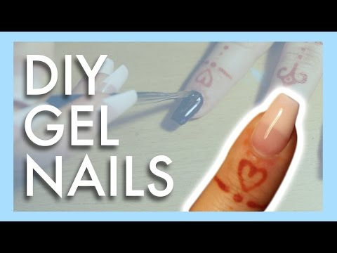DIY Gel Nails @ Home | Gel Extentions Using Tips