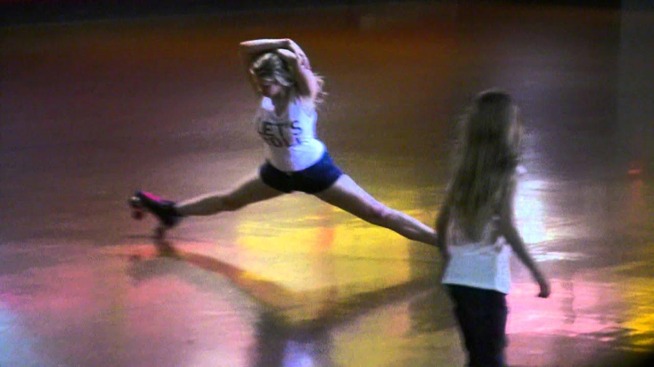 Roller skates dance - The Heathercopter Roller Skating Splits Move Haha