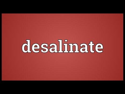 Header of desalinate