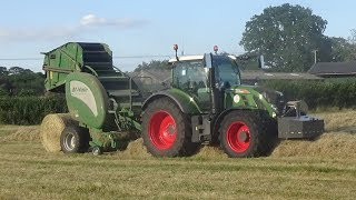 Baling Hay with Fendt 724 & McHale V660