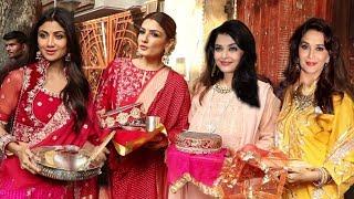 Raveena Tandon, Shilpa Shetty and others Celebrate Karwa Chauth With Them Hubby | Neelam, Divya