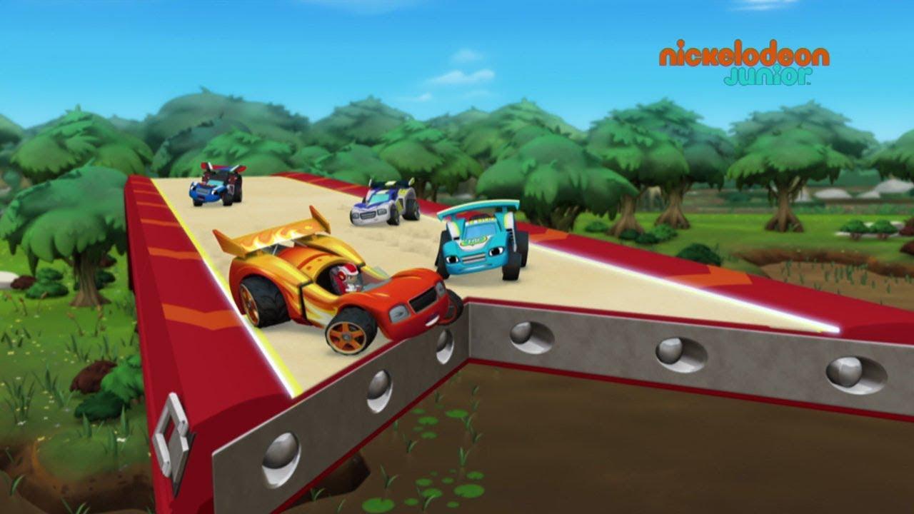 Blaze Et Les Monster Machines Les Voitures De Course Nickelodeon Junior Youtube