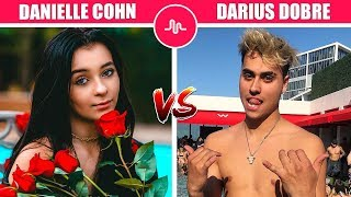 Danielle Cohn Vs Darius Dobre (Famous Musers Battle) Musically Compilation