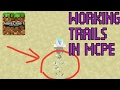 MCPE COMMANDS : How to make working trails in MCPE