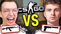 PRO Z PISTOLETEM vs SILVER Z KARABINEM w CS:GO!