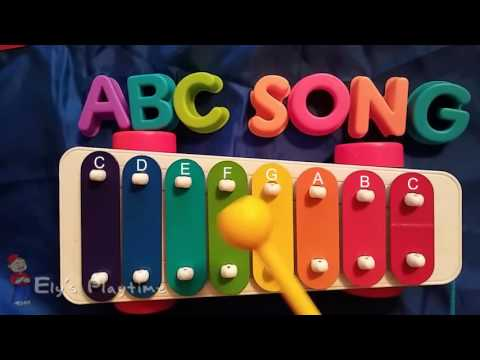 How to Play ABC Song on a Kids Xylophone Sing Along