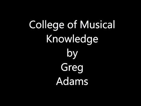 Greg Adams - College of Musical Knowledge