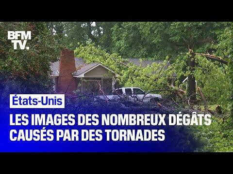Les images des nombreux dégâts causés par des tornades dans le Mississippi et en Géorgie