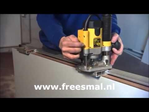 Meerpuntsluiting freesmal beslag in de deur frezen doovi for Inmeetmal voor deuren