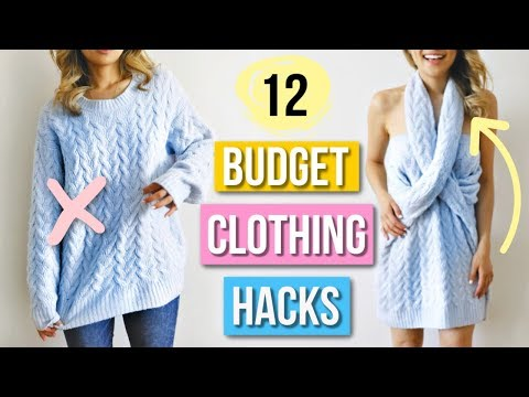 12 Clever Clothing Hacks EVERYONE Must Know!