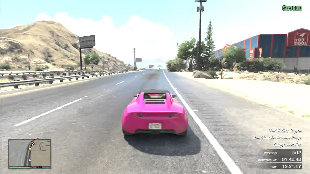 Gta V Electric Cars Cup Of Third Car Voltic Youtube