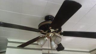 "52"" Black & Polished Brass Lasko Preferred Design & Light Ceiling Fan"